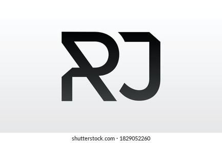 Initial rj letter logo with creative modern business typography vector template. Creative letter rj logo design.
