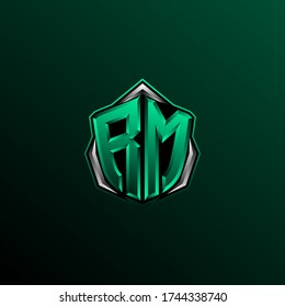 Initial RM logo design, Initial RM logo design with Circle style, Logo for game, esport, community or business.