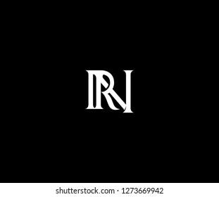 Initial RN Letter Gothic Monogram Typeface Minimal Modern Style Logo