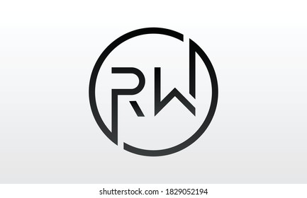 Initial rw letter logo with creative modern business typography vector template. Creative letter rw logo design.