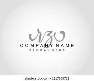 Initial RZ handwriting logo vector