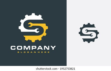 the initial S gear wrench logo