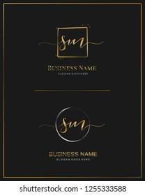 Initial S M SM handwriting logo vector. Letter handwritten logo template.