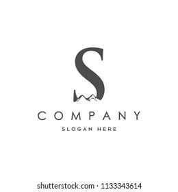 initial S Mountain logo Designs Inspiration