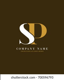 Initial S & P simple design logo template vector