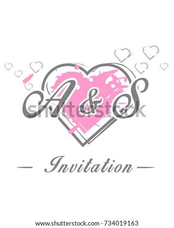 Initial S Wedding Invitation Logo Template Stock Vector Royalty