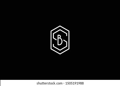 Initial SB BS Letter Logo Design Vector Template. Monogram and Creative Alphabet S B Letters icon Illustration.