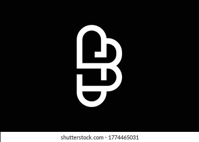 Initial SB BS modern monogram and elegant logo design, Professional Letters Vector Icon Logo on black background.