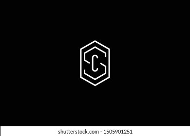 Initial SC CS Letter Logo Design Vector Template. Monogram and Creative Alphabet S C Letters icon Illustration.