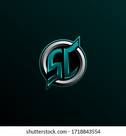 Initial SC logo design, Initial SC logo design with Circle style, Logo for game, esport, community or business.