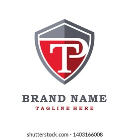 initial shield logo TP your company