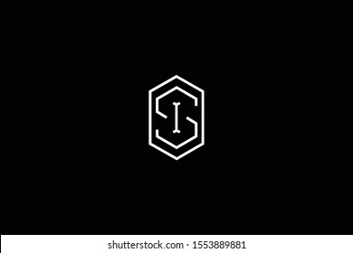 Initial SI IS Letter Logo Design Vector Template. Monogram and Creative Alphabet S I Letters icon Illustration.