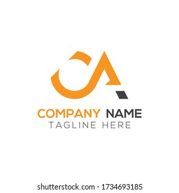 Initial Simple Letter OA or CA Logo Design Vector Template. Abstract Minimal OA or CA Letter Logo Design