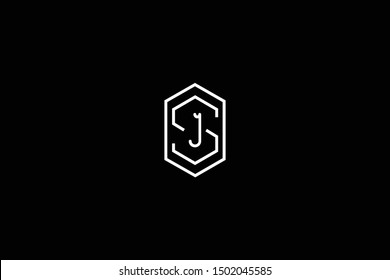 Initial SJ JS Letter Logo Design Vector Template. Monogram and Creative Alphabet S J Letters icon Illustration.