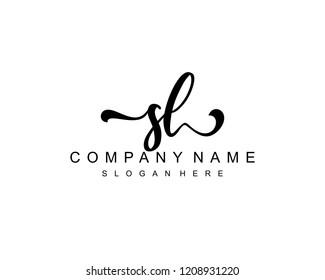 Initial SL handwriting logo vector