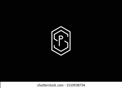 Initial SP PS Letter Logo Design Vector Template. Monogram and Creative Alphabet S P Letters icon Illustration.