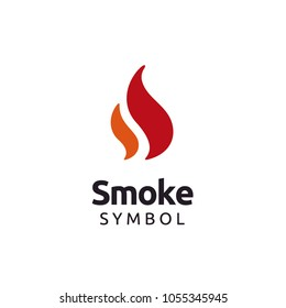Initial SS Fire Flame logo design inspiration