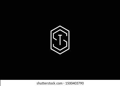 Initial ST TS Letter Logo Design Vector Template. Monogram and Creative Alphabet S T Letters icon Illustration.