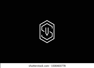 Initial SV VS Letter Logo Design Vector Template. Monogram and Creative Alphabet S V Letters icon Illustration.
