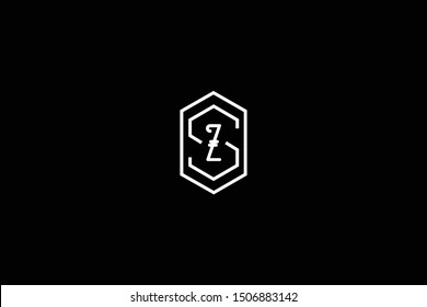Initial SZ ZS Letter Logo Design Vector Template. Monogram and Creative Alphabet S Z Letters icon Illustration.