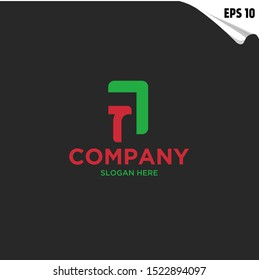 Initial TA, A Logo monogram design template. Simple shape style modern logo.