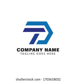 INITIAL TD LOGO VECTOR. GRAPHIC ALPHABET SYMBOL FOR CORPORATE BUSINESS IDENTITY.