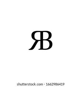 Initial Text RB R B Letter Logo design vector. Illustration of RB R B Letter logotype template element