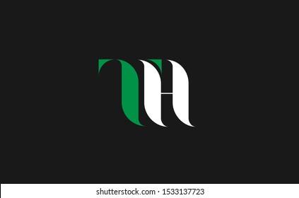 Initial TH Letter Logo Design