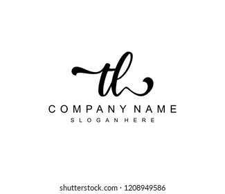 Initial TL handwriting logo vector