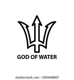 initial  T,logo God Of Water .  simple design for graphics, logos, websites, social media, UI, mobile apps, EPS10