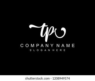 Initial TP handwriting logo vector