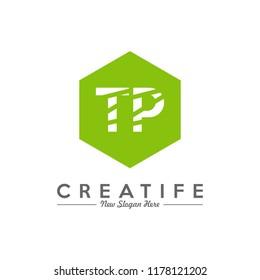 Initial TP logo concepts template vector