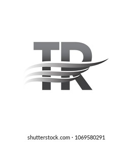Initial TR wing logo, grey color vector logotype, logo for company name business and company identity.