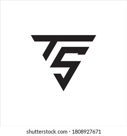 Initial TS logo design, Initial TS logo design with triangle style