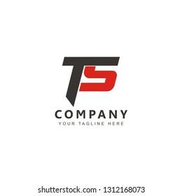 Initial TS Logo Design Vector