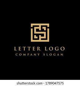 Initial TS ST Logo Design Element, Vector Initial Letter Branding Logo