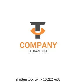 Initial TU Logo monogram design template.