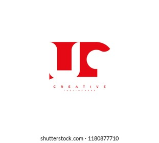 Initial UC Letter Corporate Shape Linked Logo