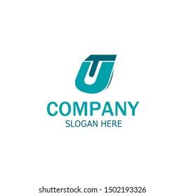 Initial UT Logo monogram design template.