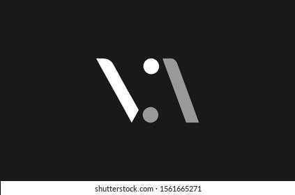 Initial V ,A ,VA ,AV Letter Logo Design