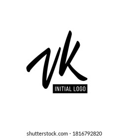 Initial VK Letter Logo With Creative Modern Business Typography Vector Template. Creative Letter VK Logo Vector.
