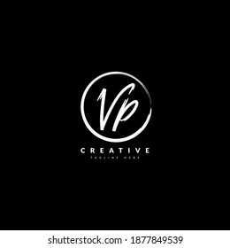 Initial VP handwritten logotype. Typography for company and business logo. Vector logo design.