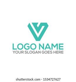 Initial VS, SV logo design and IDENTITY DESIGN - Vector