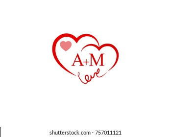Ak Initial Wedding Invitation Love Logo Stock Vector Royalty Free