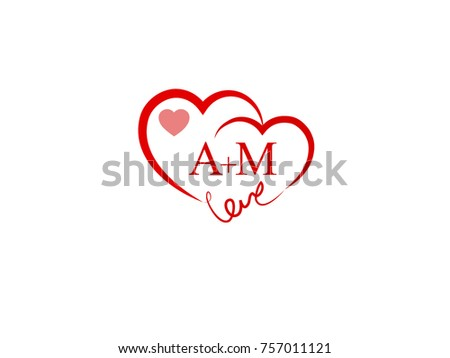 Initial Wedding Invitation Love Logo Template Stock Vector Royalty