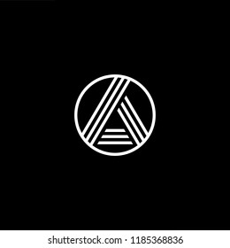 Initial White letter A AA AAA AO OA Logo Design with black Background Vector Illustration Template.