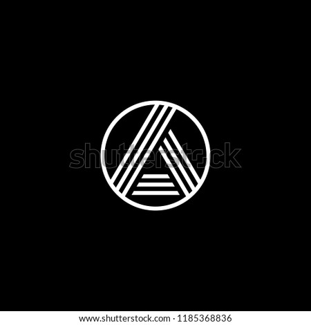 Initial White Letter Aa Aaa Ao Stock Vector Royalty Free
