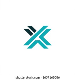 initial X letter logo XT design