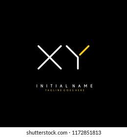 Initial X Y minimalist modern logo identity vector