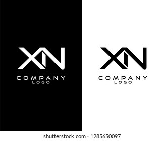 initial xn/nx Monogram logotype vector for company/business identity